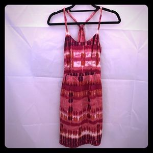Like new Banana Republic silk pink tie dye dress